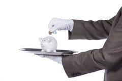 Het dienen van de beste financiëndienst Stock Afbeeldingen