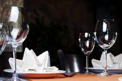 Het dienen van het restaurant Royalty-vrije Stock Afbeeldingen