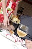Het dienen van het voedsel Royalty-vrije Stock Fotografie