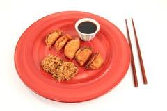Het Dienen van Mandoo stock afbeeldingen