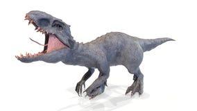 Het dier, indominus rex van backgorund, 3d geeft terug stock fotografie