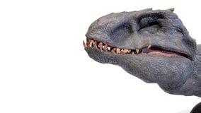 Het dier, indominus rex van backgorund, 3d geeft terug stock afbeeldingen