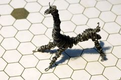 Het dier van de draad stock foto