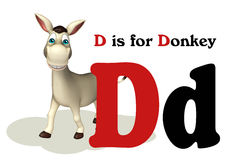 Het dier van het ezelslandbouwbedrijf met alphabte Royalty-vrije Stock Foto's
