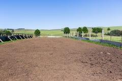 Het Dier van het landbouwbedrijfvee drijft Pen bijeen Royalty-vrije Stock Foto's