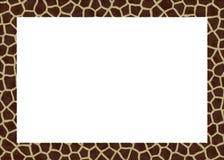 Het dierlijke frame van bont abstracte foto Stock Foto