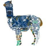 Het dierlijke symboliseren Peru stock illustratie