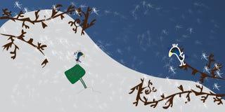 Het dierlijke thema van Kerstmis Stock Foto