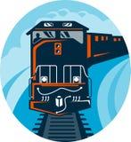 Het diesel reizende spoor van de Trein Royalty-vrije Stock Afbeeldingen