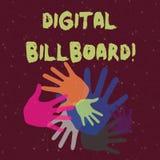 Het Digitale Aanplakbord van de handschrifttekst Concept die aanplakbord betekenen dat digitale afbeeldingen voor de reclame van  royalty-vrije illustratie