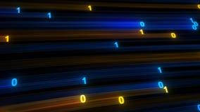 Het digitale binaire concept van gegevenssnelle internetdiensten Royalty-vrije Stock Afbeelding