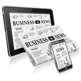 Concept - Digitaal Nieuws Royalty-vrije Stock Afbeelding