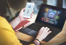 Het Digitale Elektronische Grafische Concept van e-mailberichtgegevens Royalty-vrije Stock Afbeelding