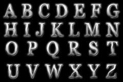 Het digitale Element van de Stijlscrapbooking van het Alfabetspook Stock Afbeelding