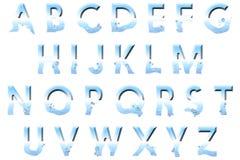 Het digitale Element van Scrapbooking van de Alfabet Onderwaterstijl Royalty-vrije Stock Afbeeldingen