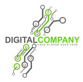 Het digitale Embleem van de Elektronika Royalty-vrije Stock Afbeeldingen