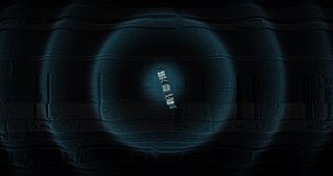 Het digitale en Futuristische 3D tegen tellen neer van tien tot nul Grote die Aantallen voor intros en explosieve gebeurtenisopen vector illustratie