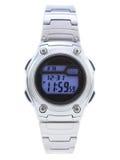Het digitale Horloge van de Kleding met blauw gezicht Stock Foto's