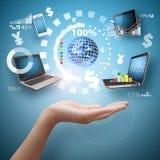 Het digitale hulpmiddel: Financieel hulpmiddelenconcept Royalty-vrije Stock Afbeelding