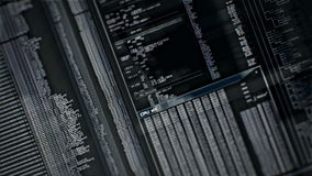 Het digitale interfacescherm