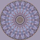Het digitale kunstontwerp, oosters gouden patroon, nam en blauw toe Stock Afbeelding