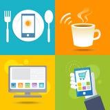 Het digitale leven Internet-netwerk met radio Stock Afbeeldingen