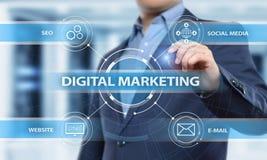 Het digitale Marketing Inhoud Planning concept van de Reclamestrategie Royalty-vrije Stock Afbeeldingen