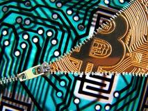 Het digitale muntstuk van upzipcryptocurrency royalty-vrije stock afbeelding