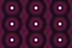 Het digitale naadloze patroon van het kunstontwerp met purpere sterren Royalty-vrije Stock Afbeelding