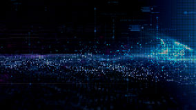 Het digitale Net van Matrijsdeeltjes Stock Afbeeldingen