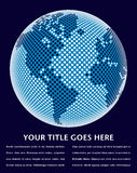 Het digitale ontwerp van de wereldkaart. Stock Foto