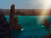 Het Digitale Schilderen van de archipel Royalty-vrije Stock Foto's