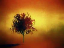Het digitale schilderen van een rode boom Royalty-vrije Stock Afbeelding