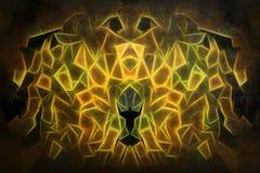 Het digitale schilderen van mystiek cijfer Stock Afbeelding