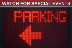 Het digitale Teken van het Parkeren Stock Foto