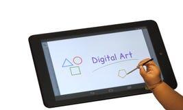 het digitale trekken op tablet Royalty-vrije Stock Fotografie