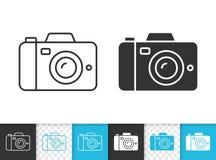 Het digitale vectorpictogram van de Camera eenvoudige zwarte lijn royalty-vrije illustratie