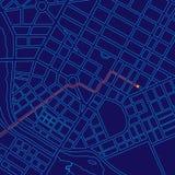 Het digitale Volgen van de Kaart met GPS Royalty-vrije Stock Foto's