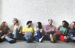 Het digitale Voorzien van een netwerk Team Concept van de Verbindingstechnologie royalty-vrije stock afbeelding
