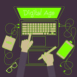 Het digitale werken Royalty-vrije Stock Afbeelding