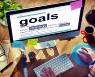 Het digitale Woordenboekdoelstellingen Concept van de Strategievisie Stock Foto's