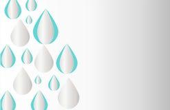 Het dimensionale behang van de regendruppeldesktop, dimensionale regendruppelvector, achtergrondvector Royalty-vrije Stock Afbeeldingen