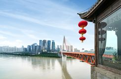 Het dimensionale verkeer van China Chongqing Stock Fotografie