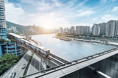Het dimensionale verkeer van China Chongqing Royalty-vrije Stock Foto's