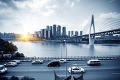 Het dimensionale verkeer van China Chongqing Royalty-vrije Stock Afbeeldingen