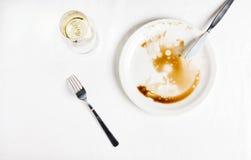 Het diner is gebeëindigd Royalty-vrije Stock Foto