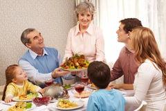 Het diner van de dankzegging stock afbeeldingen
