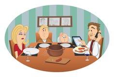Het diner van de familie royalty-vrije illustratie