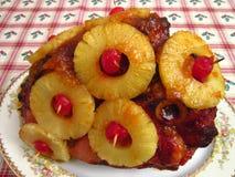 Het Diner van de Ham van de Dag van nieuwjaren Stock Afbeelding