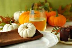Het diner van de herfst Royalty-vrije Stock Afbeeldingen